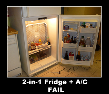Fridge Air Conditioner Two in One - Fail