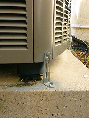 Is your air conditioner hurricane safe kobie complete for Ac condenser pad installation