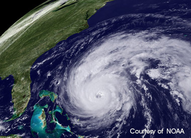 Hurricane Satellite Image - Courtesy of NOAA