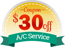$30 off AC Service Graphic