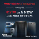Lennox Rebates Winter 2015
