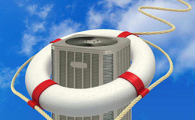 Air Conditioner in Lifebuoy