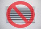 Closed Air Conditioning Vent
