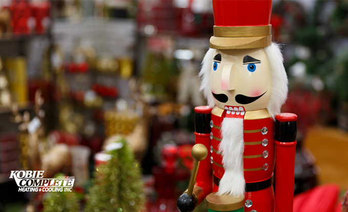 Traditional Nutcracker holiday decorations