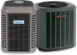 Trane and Comfortmaker air conditioners