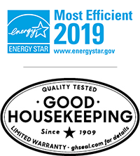 ENERGY Star Most Efficient 2019 and Good Housekeeping Seal of Approval