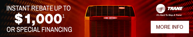 Trane AC Rebates Banner - Click for More Iinfo