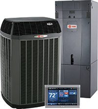 Trane Air Conditioner, Air Handler and Thermostat