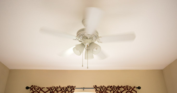 Ceiling fan running