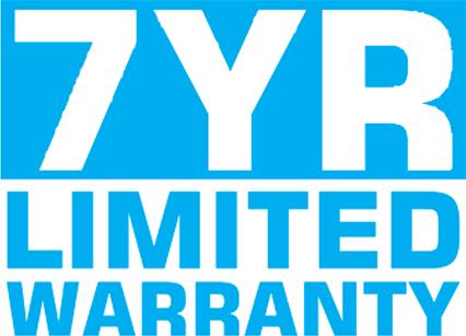 Seven Year Warranty