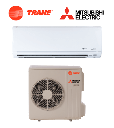 Trane-Mitsubishi Ductless mini split indoor and outdoor unit