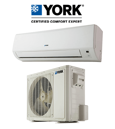YORK Ductless mini split indoor and outdoor unit