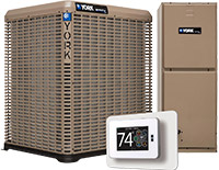 York Air Conditioner, Air Handler and Thermostat