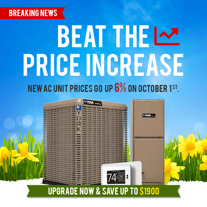 Beat the Price Increase - Prices for New AC Units Go Up October 1, 2020