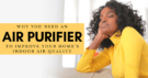 woman in yellow sweater on relaxing on sofa enjoying the good air quality in her home